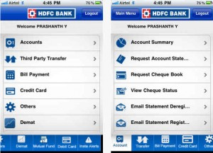 HDFC iPhone app