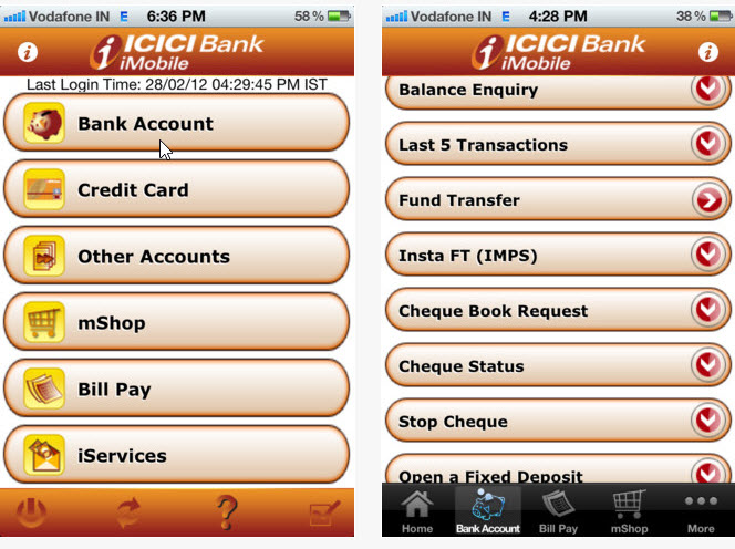 ICICI Citi and HDFC bank mobile applications – Bank Application