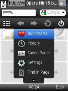 Opera mini 5 settings