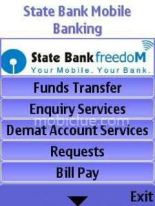 SBI freedom mobile application
