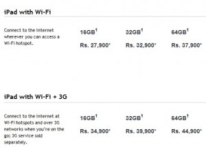 iPad prices in India