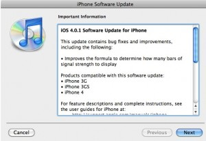 Download iOS 4.0.1 from direct links