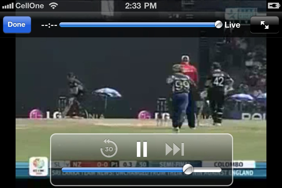 Watch World cup cricket semi and final live streaming on mobile