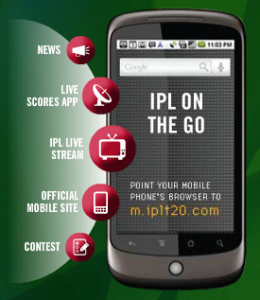 Get IPL 2010 updates in mobile