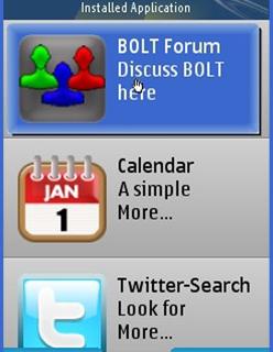 BOLT 2.0 widgets