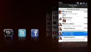 BlackBerry OS 6.0 social feed