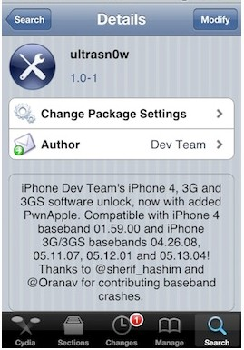 unlock iPhone 4 step by step with ultrasn0w 1.0-1