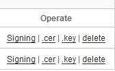 Download .CER and .KEY file