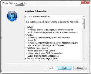iOS 4.2 update features