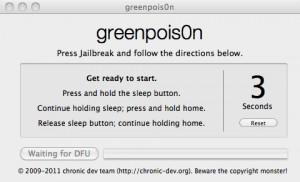 Greenpois0n RC5 jailbreak