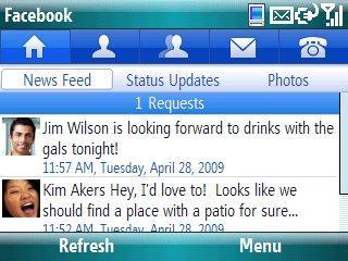 Facebook Windows mobile title=