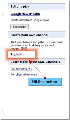 Google SMS channel