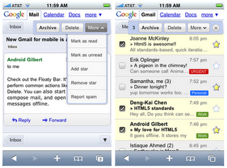 Gmail mobile for iPhone