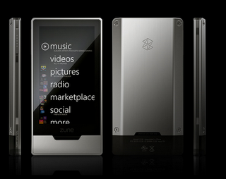 Zune HD portable music player