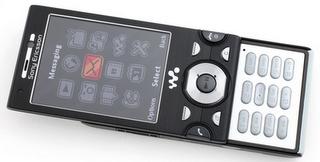 Sony Ericsson W995 front keypad