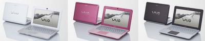 Sony VAIO W  netbook colors